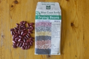Last year's packet – with the seeds I didn't use!