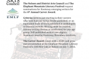 Call for Nominations — Carver Award for Emerging Writers