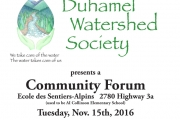 Duhamel Watershed Society hosts Community Forum
