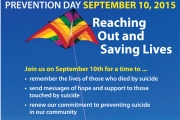 World Suicide Prevention Day Thursday at Lakeside Park