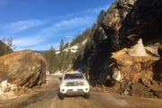 Highway 3 west of Creston is now open to single-lane traffic. — Photo courtesy WK District MOTI