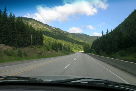 Route Three Highway through Manning Park