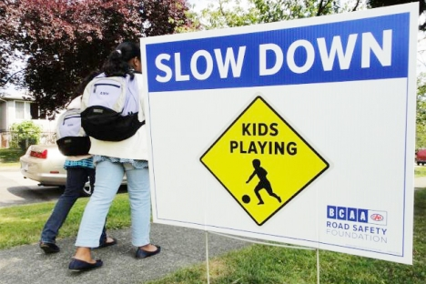Drivers are urged to slow down in school zones.  photo submitted