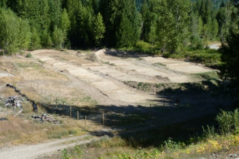 The new BMX track near Salmo is ready to riders. — photo courtesy West Kootenay BMX club
