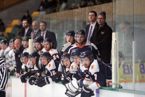 Beaver Valley lost its first game of the playoffs Saturday, and now face a must-win situation on the road beginning Tuesday against Kimberley. — The Nelson Daily photo