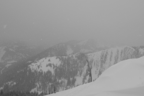 Looking across the Grey/Kickup basin from Mt. Kirkup summit - Andrew Zwicker photo