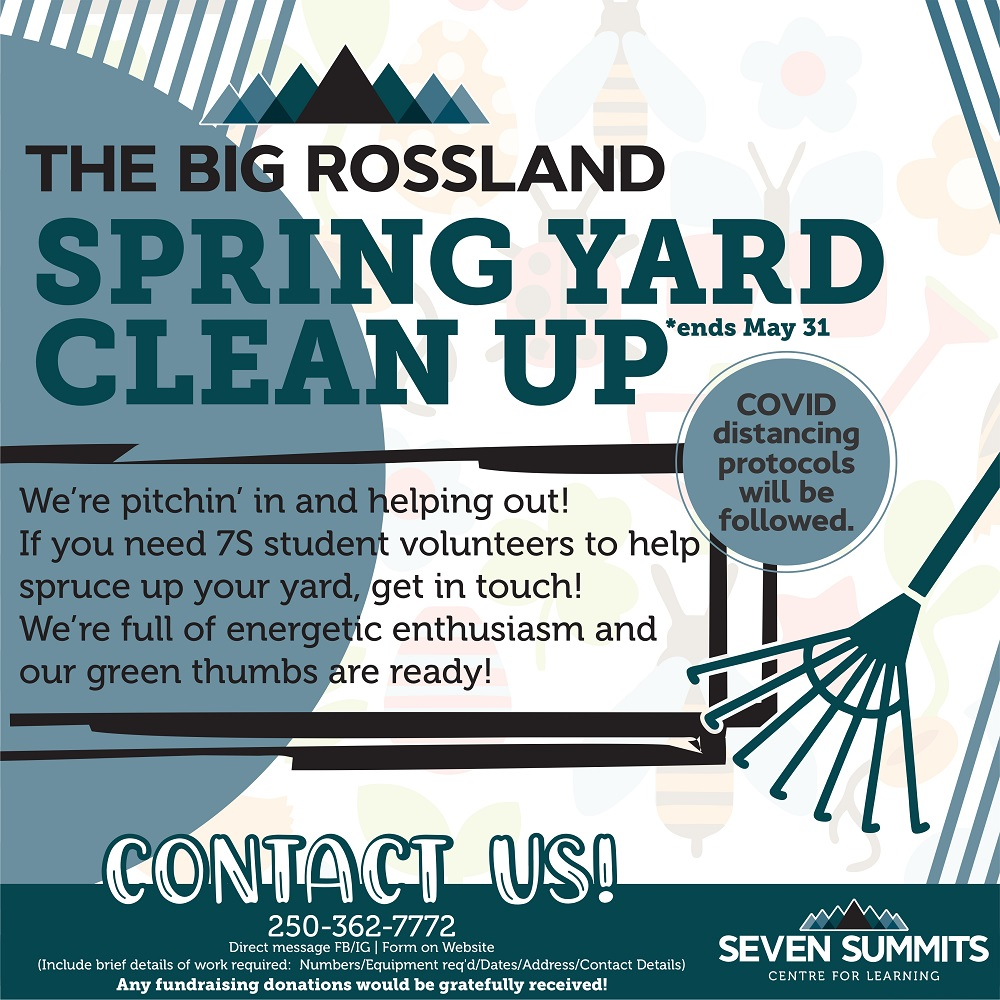 Help Rossland students help you with the Big Rossland Spring Yard Clean-up